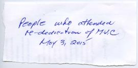 Guest Book - May 3, 2015