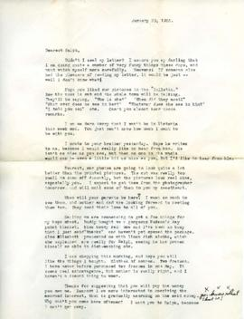 Letter from Ann, January 20, 1933
