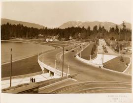 Georgia Street entrance and causeway, Stanley Park, Vancouver, British Columbia
