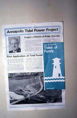 "An article which states: ""Annapolis Tidal Power Project"""