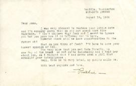 Letter from Ruth, August 18, 1932