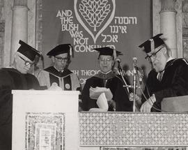 Four unidentified speakers for the Jewish Theological Seminary