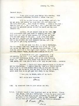 Letter from Ann, January 13, 1933