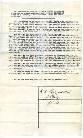 Agreement - January 10, 1945