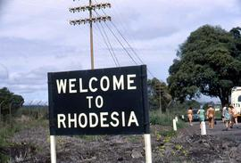 "Sign ""Welcome to Rhodesia"""