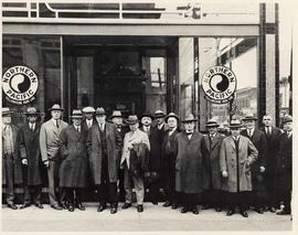Northern Pacific Railway group portrait, 501 Granville Street, Vancouver, B.C.