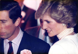 Prince Charles and Diana Princess of Wales at Elephant & Castle