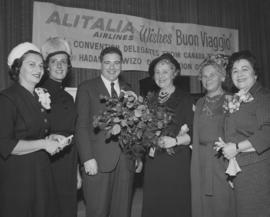 Manager of Alitalia airline at departure of Canadian Hadassah conference delegates