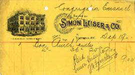 Simon Leiser & Co. - Wholesale Grocers - Church Candles - September 19