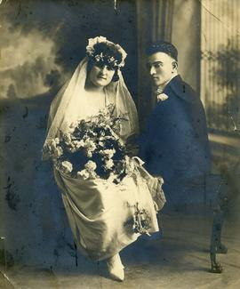 [Wedding portrait of Ann and Harry Nemetz]