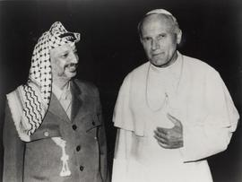 Yasser Arafat and Pope John Paul II