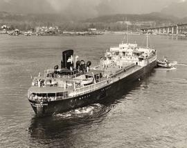 "Ship, the SS ""World Treasure"", of Monrovia in Vancouver Harbour"