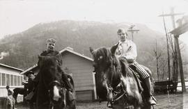 Teddy & Debbie Nemetz on horseback at Harrison Hot Springs