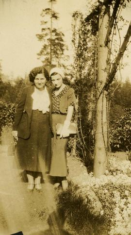 Esther Nemetz [and an unidentified woman]