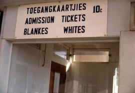 "Sign stating ""Tickets Whites"""