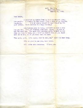 Letter from Ann, January 11, 1933