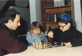 Beth Hamidrash Chess Club, children playing