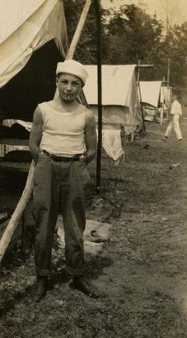 "[Irving Snider at ""Y"" Camp]"