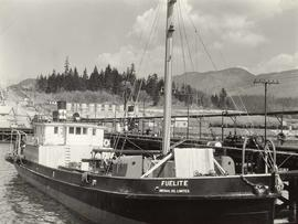 """Fuelite"" boat at dock (Imperial Oil Limited)"