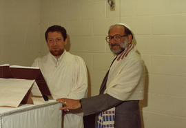Burquest High Holiday services, l-r: Robert Edel, Arthur Guttman