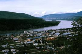 Dawson City from a distance