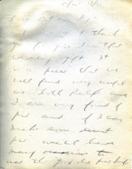 Thank you letter from Ann, April 17, 1933