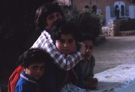 Group of four unidentified kids