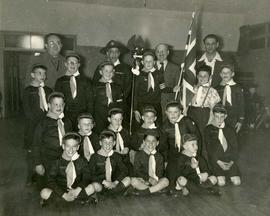 No. 42 B'nai Brith wolf cub pack, investiture April 7th, 1953 sponsored by Lions Gate Lodge No. 1...