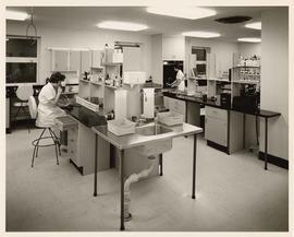 Laboratory, addition to St. Paul's Hospital upon completion, Vancouver, British Columbia