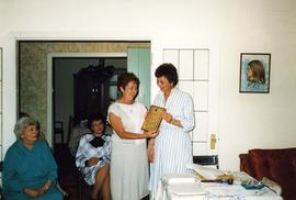 [Arlene Brisker receiving plaque]