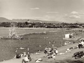 Summer scene at Kitsilano Beach, Vancouver B.C.