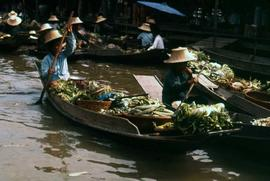 Close-up of a boat carrying produce