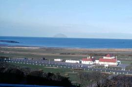 View overlooking the shore of the golf resort Turnberry