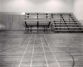 Gymnasium and bleachers, Templeton High school, 727 Templeton Drive, Vancouver
