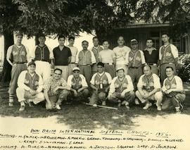 B'nai B'rith International softball champs - 1956