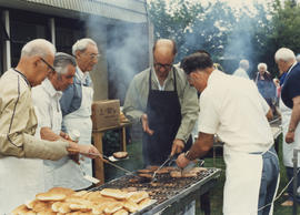 'Louis Brier Home and Hospital celebrate their annual barbecue on the grounds of the home'