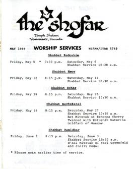 The Shofar - May 1989