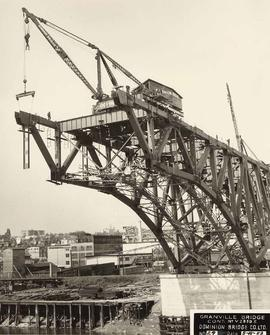No. 29 - Granville Bridge, course of construction