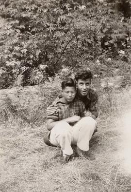 Unidentified boys outside at Camp Hatikvah
