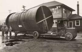 'Powell River Penstock' on truck