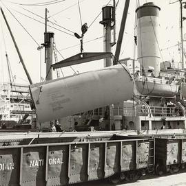 "USNS ""Greenville Victory"" - military sea transportation ship, at dock"
