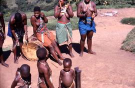 Unidentified South African women and children in traditional ethnic dress