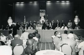 Vancouver convention - 1974 presentation of Totem Pole to Dick Braunstein of Portland