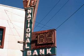 1st National Bank sign in Fairbanks