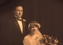 Wedding portrait of Leo and Bessie Nemetz