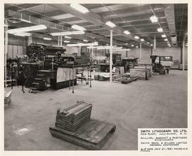 Interior of warehouse, Smith Lithograph Co. Ltd., New Plant