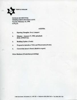 Minutes for Board Meeting, February 24, 1998