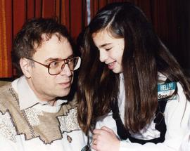 [Bernie Simpson with his daughter Annie]