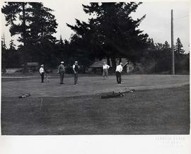 Group of golfers, Comox, Vancouver Island