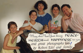 Robert Edel and family greeting card for New Year